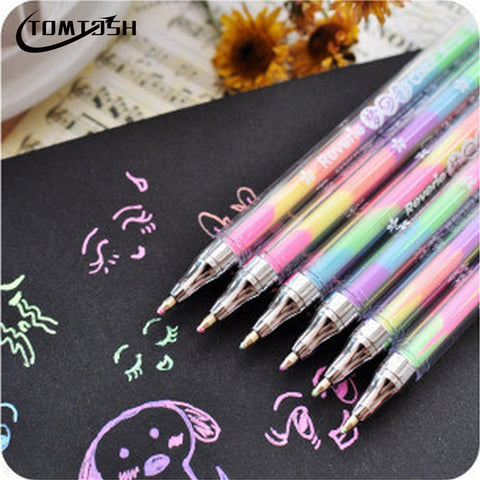 Mini Banana Shape Highlighter Marker Pens 6 colors
