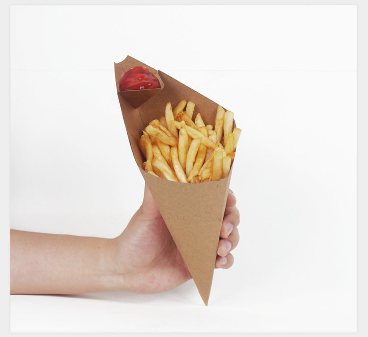 Kraft Paper French Fries Chips Box