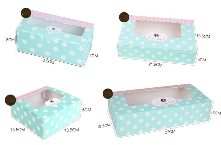 Top Clear Window Kraft Cake Muffin Box 10ct