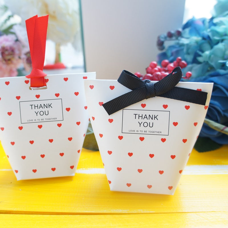 Red Heart Candy Party Favor Box