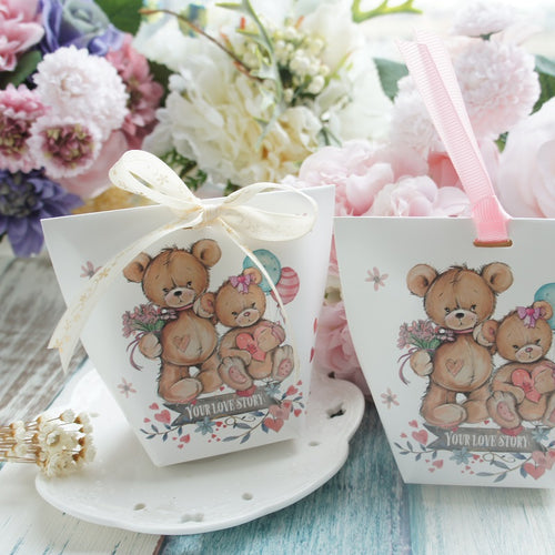Love Bear Candy Party Favor Box 10ct