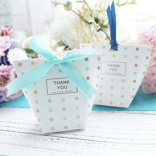 Blue Dots Candy Party Favor Box 10 ct