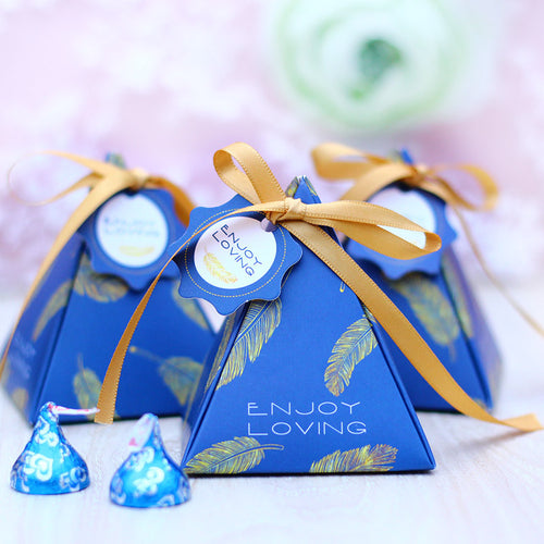 Wedding Favor Gift Box - Blue