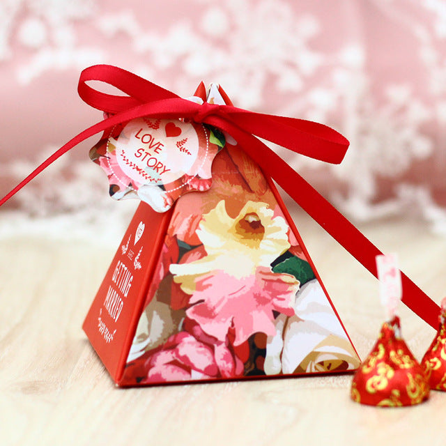 Wedding Favor Gift Box - Red