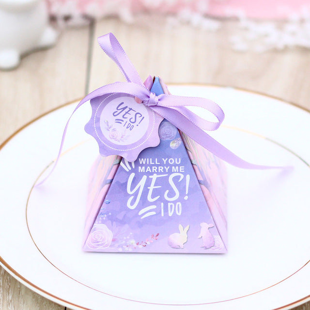 Wedding Favor Gift Box - Pink