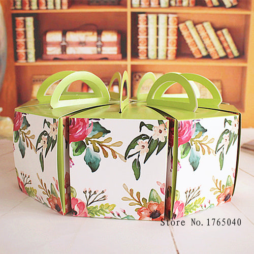 Flower Print Triangle Cake Box 100ct