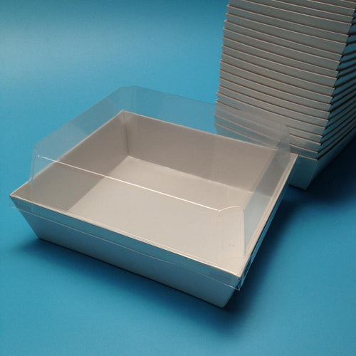 Sandwich Box w/ Clear Lid 50ct