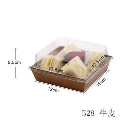 Sandwich Box Clear Lid 100ct