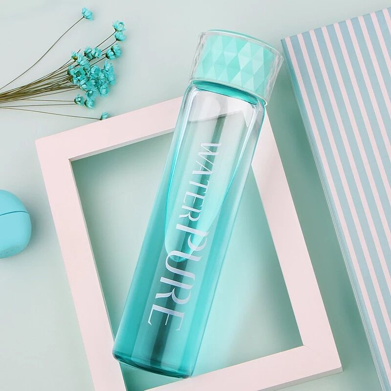 Glass Water Bottle Portable Dull Polish Drink Bottle Creative Healthy Water Container