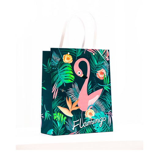Flamingo Gift Bag w/ Handle 1pc - Size S