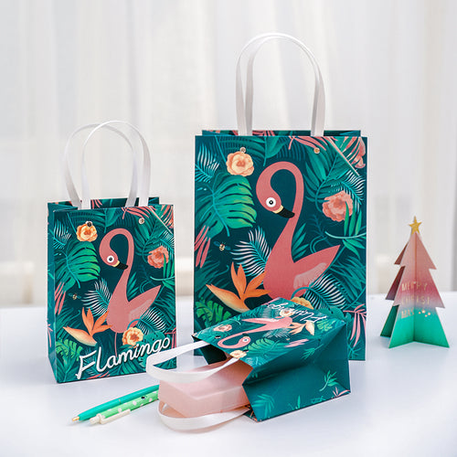 Flamingo Gift Bag w/ Handle 1pc - Size L