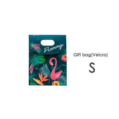 Flamingo Gift Bag Velcro Close 1pc - Size S