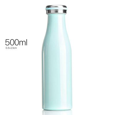 Milk Bottle Shape Insulated Thermos - 500ml