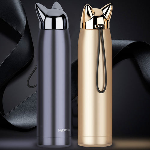 Double Wall Thermos Water Bottle - Stainless Steel 320ml