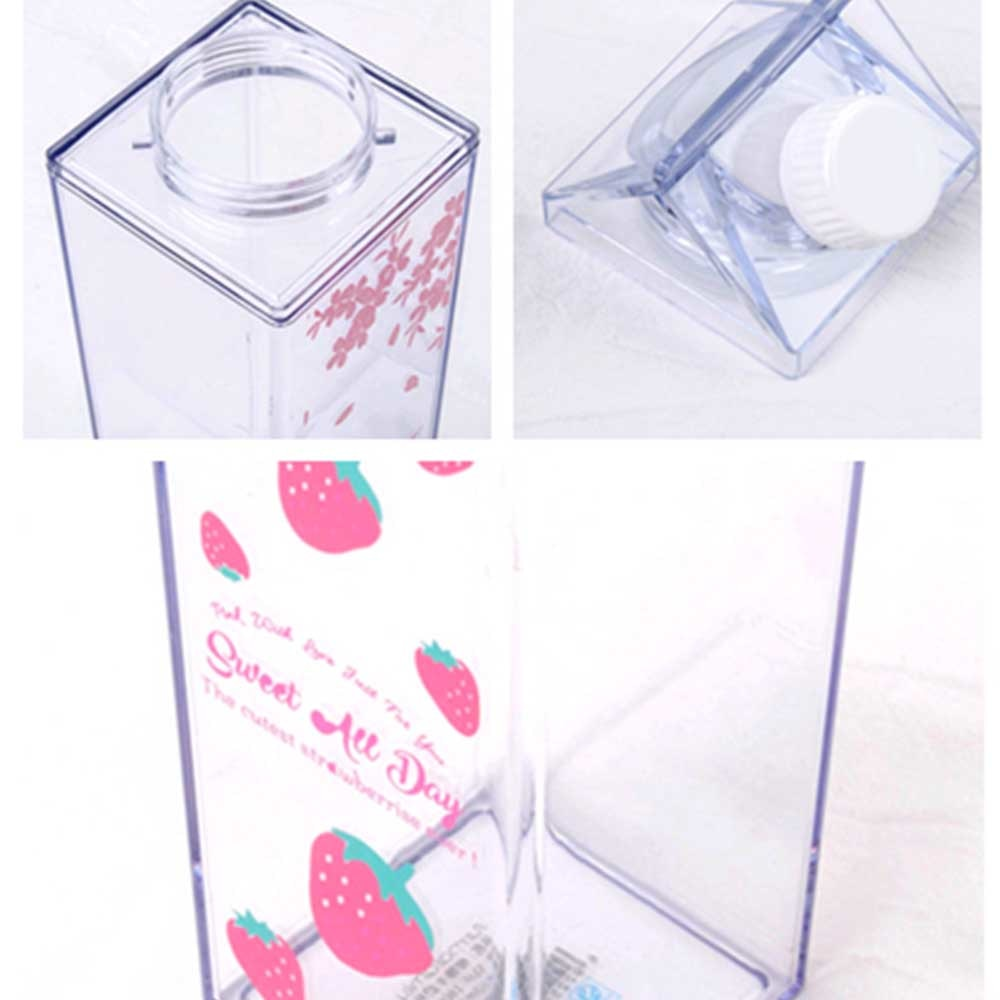 Milk Carton Shape Square Bottle Square