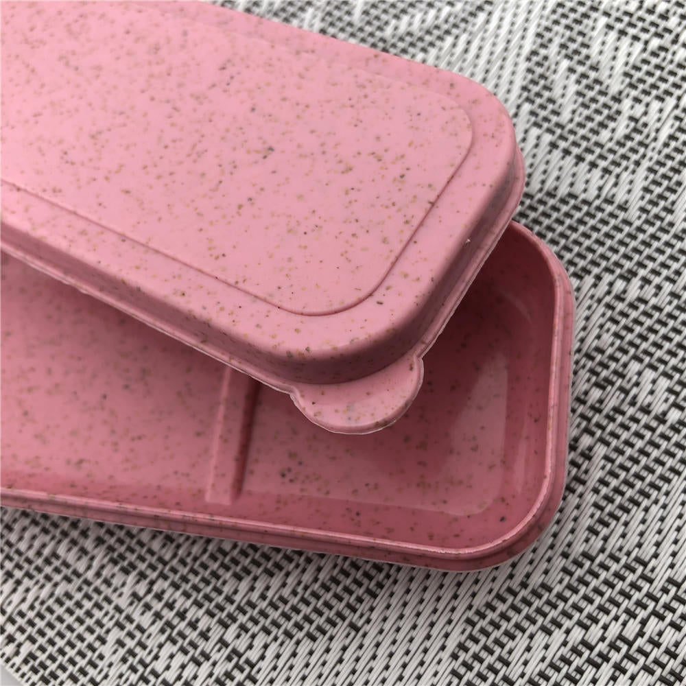 Portable Cutlery Wheat Straw Travel Box