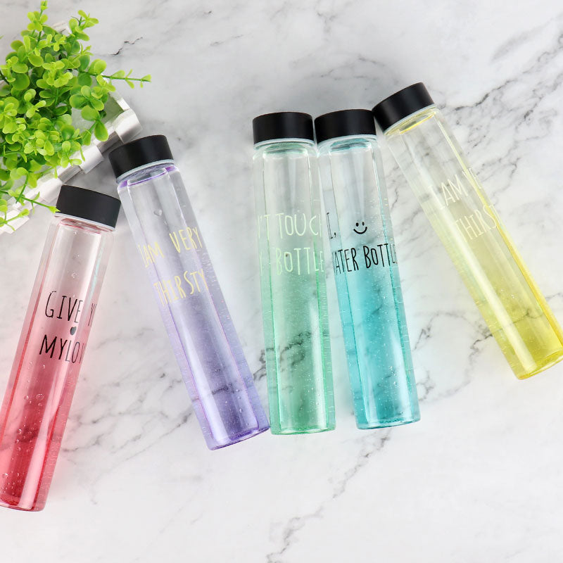 Tall Sexy Glass Water Bottle 300ml
