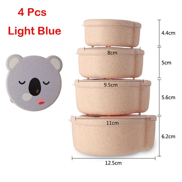 4pc Bear Lunch Bento Box