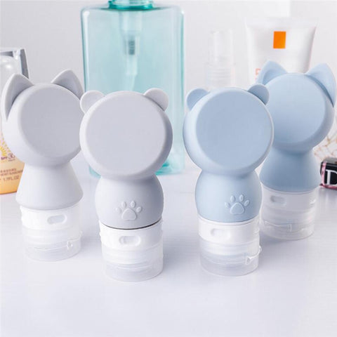 Robot Ear Glass Water Bottle with Silicone Ring 350ml