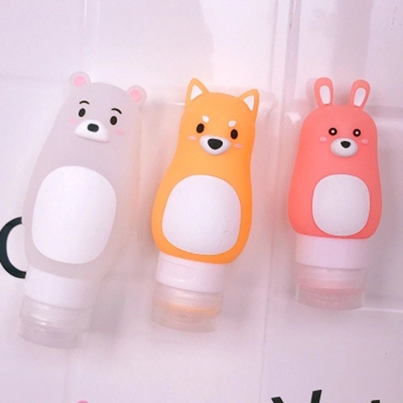 Animal Soft Silicone Refillable Travel Bottle