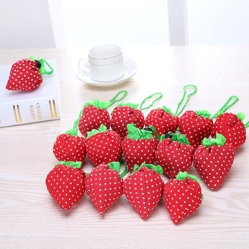 2019 New top sale Eco Storage Handbag Strawberry Foldable Shopping Bags Beautiful Reusable Bag for daily shopping SH01