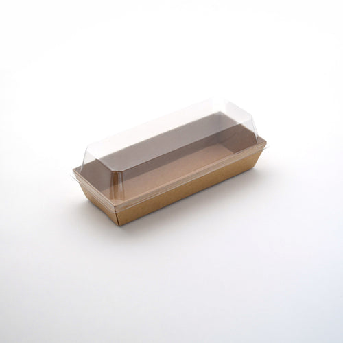 Lunch Tray w/ Lid Rectangle Kraft