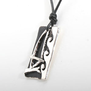 Windsurfer Necklace with Windsurfing Board Pendant - Zulasurfing Jewelry  - 3