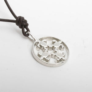 Sea Turtle Necklace silver Pendant - Zulasurfing Jewelry  - 2