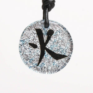 Dichroic Glass Pendant Chinese Fire Character Symbol - Zulasurfing Jewelry  - 1