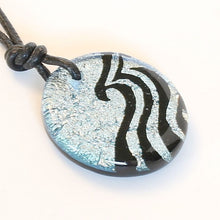 Load image into Gallery viewer, Surfer Necklace with silver Dichroic Glass Wave Pendant - Zulasurfing Jewelry  - 2