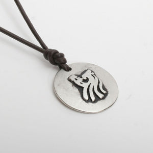 Surfer Necklace with Pewter Wave Art North Shore Pendant - Zulasurfing Jewelry  - 2