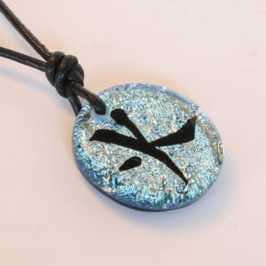 Dichroic Glass Pendant Chinese Fire Character Symbol - Zulasurfing Jewelry  - 3