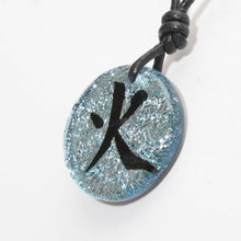 Load image into Gallery viewer, Dichroic Glass Pendant Chinese Fire Character Symbol - Zulasurfing Jewelry  - 2
