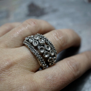 sterling silver Double Octopus ring