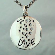 Load image into Gallery viewer, Scuba Diving Jewelry scuba necklace 925 Sterling Silver coin pendant - Zulasurfing Jewelry  - 1