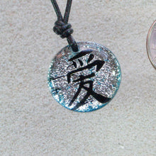 Load image into Gallery viewer, Dichroic Glass Pendant Chinese love Symbol - Zulasurfing Jewelry  - 3