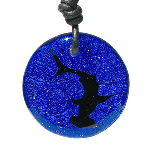 Hammerhead dichroic glass Shark Necklace - Zulasurfing Jewelry  - 5