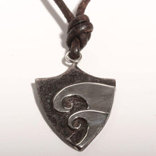 Load image into Gallery viewer, Surfer Necklace with Hawaiian Wave shield Pendant - Zulasurfing Jewelry  - 2