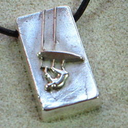 KiteSurfing Necklace with Sterling Silver Pendant - Zulasurfing Jewelry