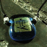 Surfer necklace with Dichroic Glass Pendant - Zulasurfing Jewelry