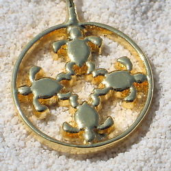 Hawaiian Turtles Pendant necklace - Zulasurfing Jewelry