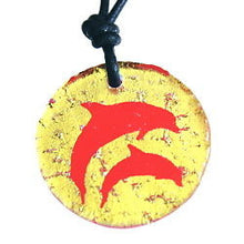 Load image into Gallery viewer, Dichroic Glass Dolphin necklace - Zulasurfing Jewelry  - 1