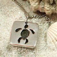 Sea Turtle Necklace with Sterling Silver Pendant - Zulasurfing Jewelry