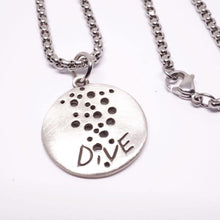 Load image into Gallery viewer, Scuba Diving Jewelry Scuba Necklace 925 Sterling Silver Coin Pendant
