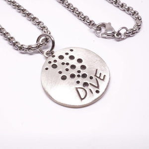 Scuba Diving Jewelry Scuba Necklace 925 Sterling Silver Coin Pendant