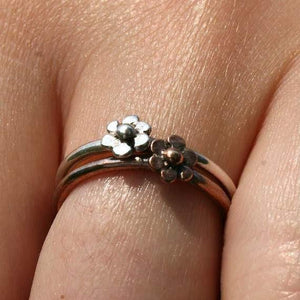 925 Sterling Silver Single Daisy Ring - Zulasurfing Jewelry  - 3