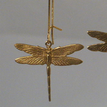 Small Brass Dragonfly Kidney earrings - Zulasurfing Jewelry