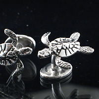 Sea turtle Cufflinks Hawaiian Honu - Zulasurfing Jewelry