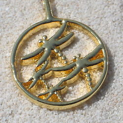 Dragonfly Pewter Pendant Jewelry 24k Gold Plated - Zulasurfing Jewelry