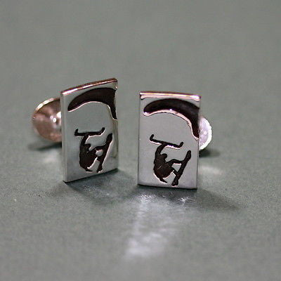 kitesurfing Cufflinks made of 925 Sterling Silver - Zulasurfing Jewelry